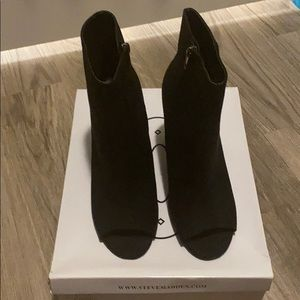 """Steve Madden """"Charge"""" Peeptoe Ankle Boots"""